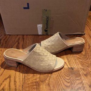 Frye women's woven mule sz 7 tan leather new